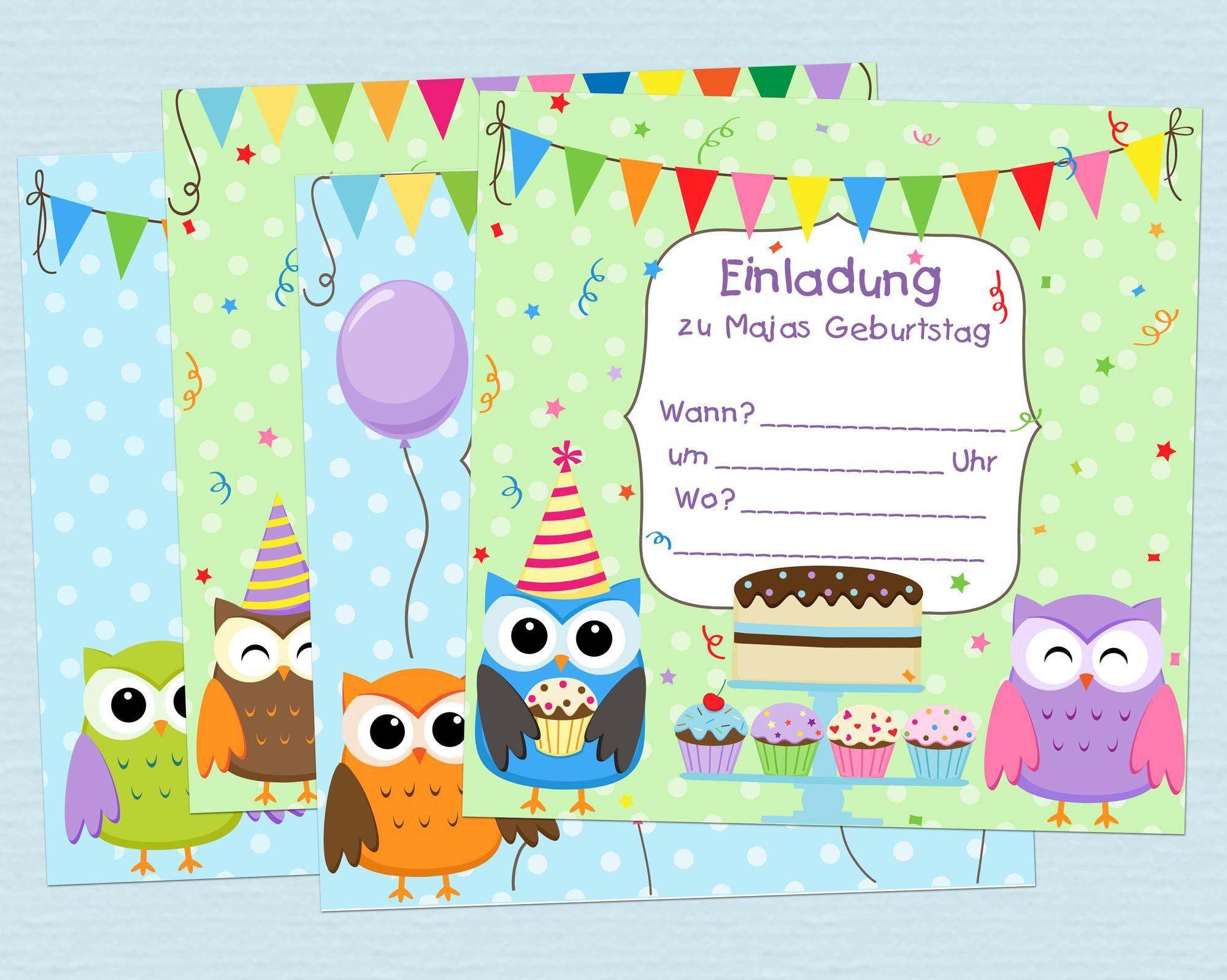 Einladungskarten Kindergeburtstag Basteln Ausdrucken bei Geburtstagskarten Kindergeburtstag Kostenlos