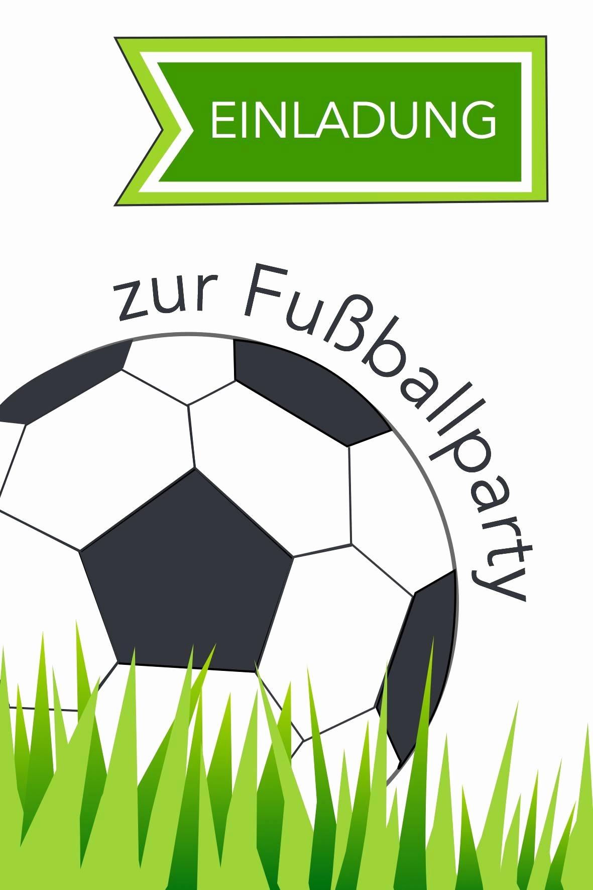 Einladungskarten Kindergeburtstag Kostenlos Ausdrucken Neu innen Fußball Bilder Zum Ausdrucken