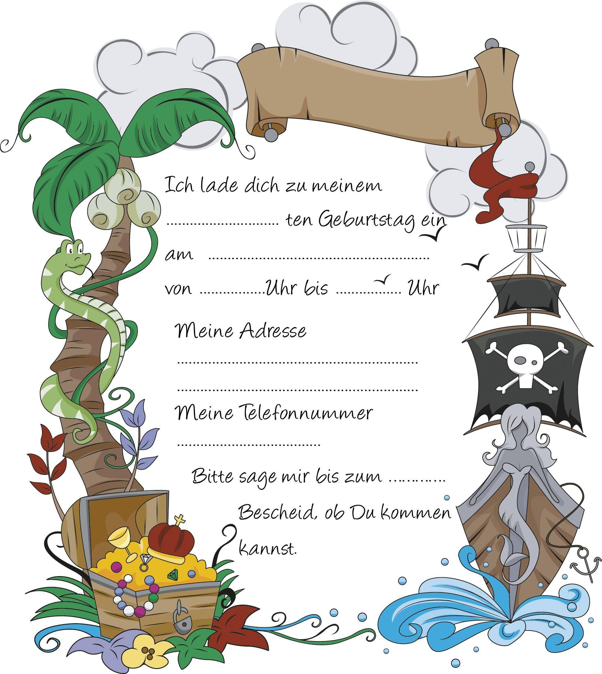 Einladungskarten-Kindergeburtstag-Kostenlos-Gestalten-Und bei Karten Selbst Gestalten Kostenlos Zum Ausdrucken