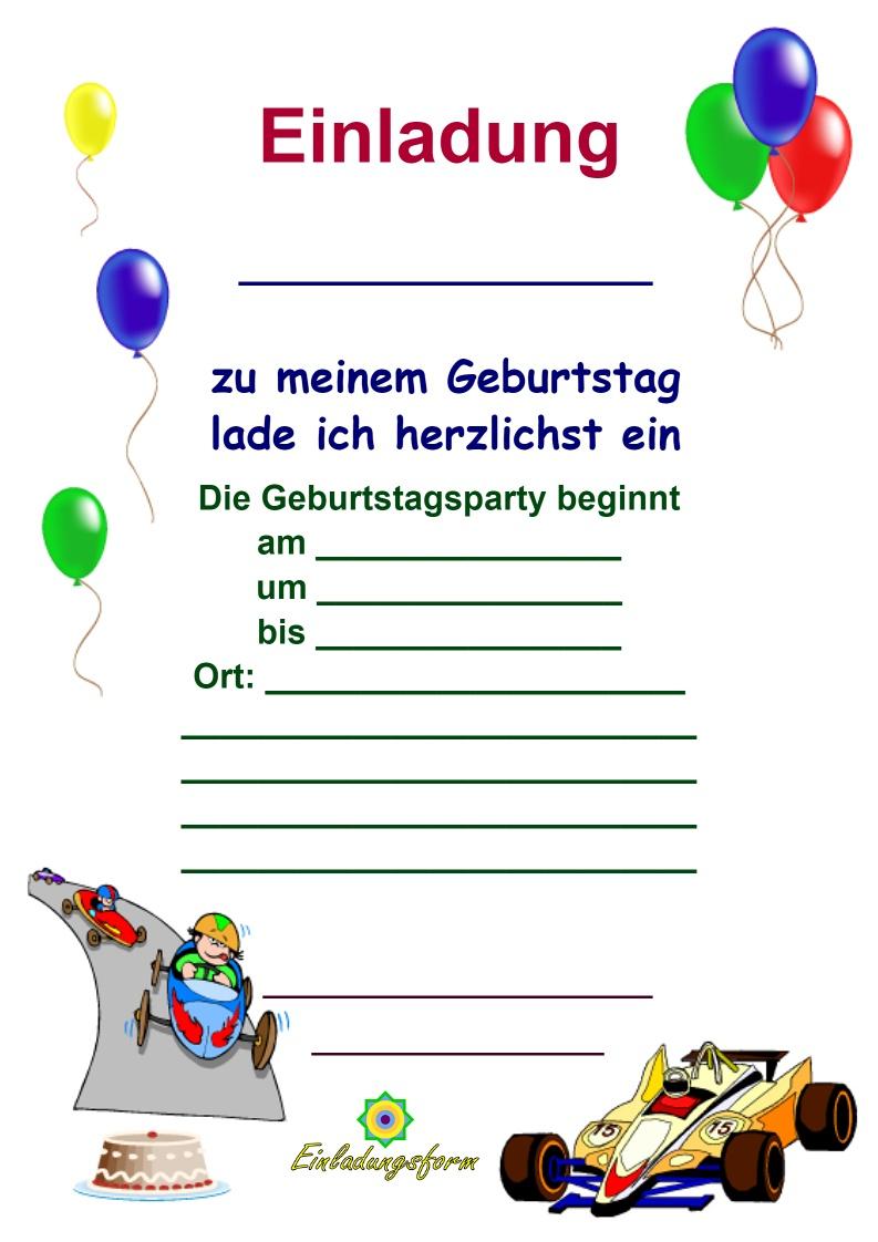 Einladungskarten Kindergeburtstag Zum Ausdrucken - Jungs in Einladungskarten Zum Ausdrucken Kinder