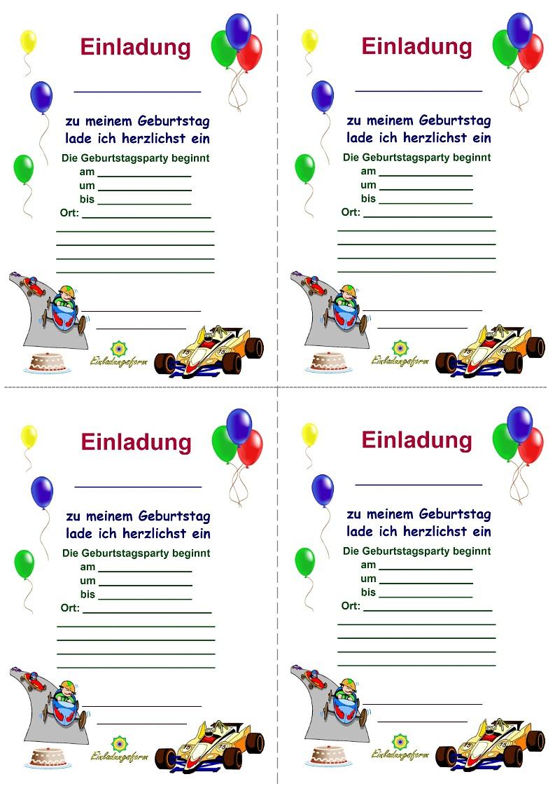 Einladungskarten Kindergeburtstag Zum Ausdrucken - Jungs verwandt mit Einladungskarten Zum Ausdrucken Kinder