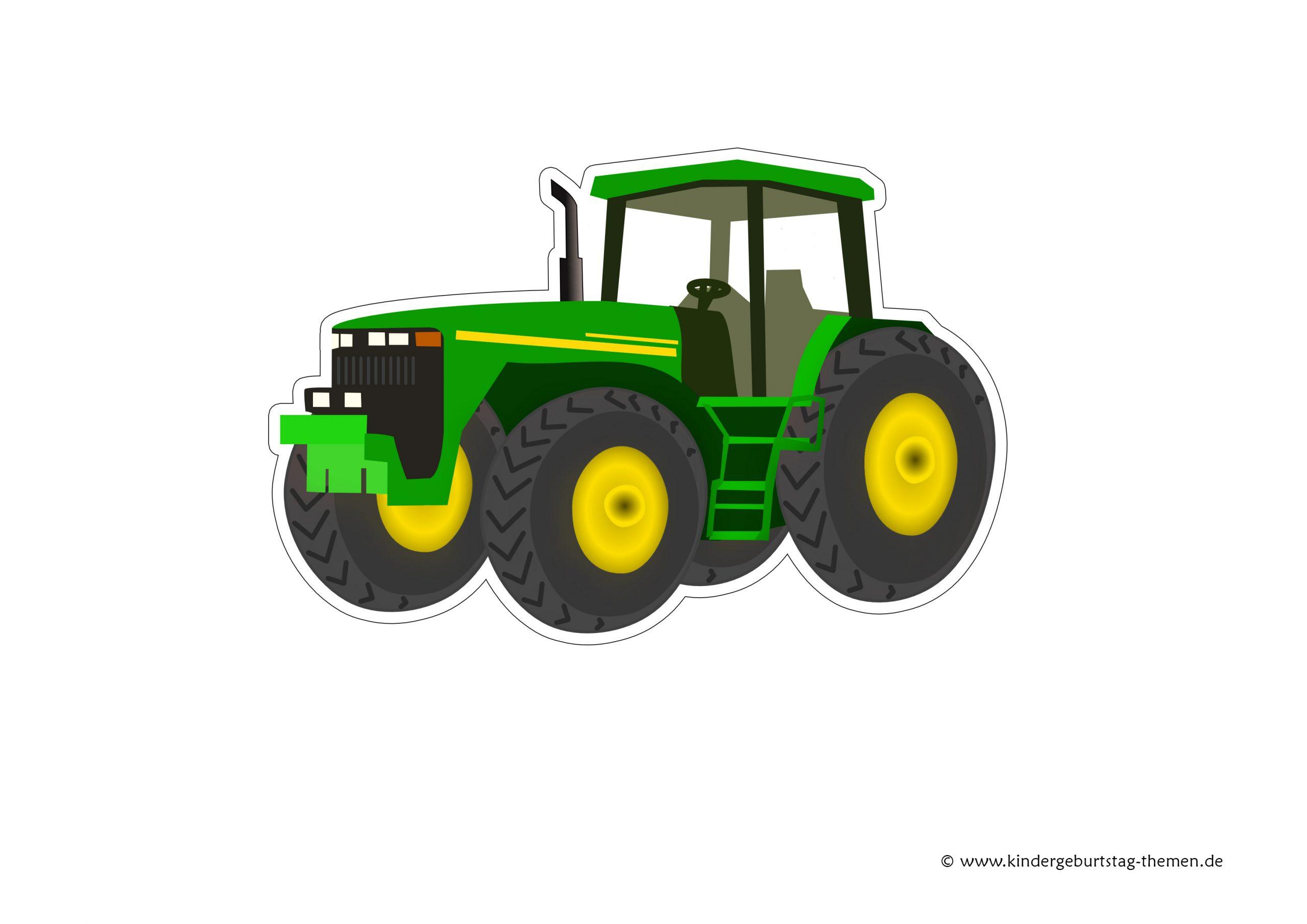 Einladungskarten Traktor Kostenlos Ausdrucken: Vorlagen innen Trecker Bastelvorlage
