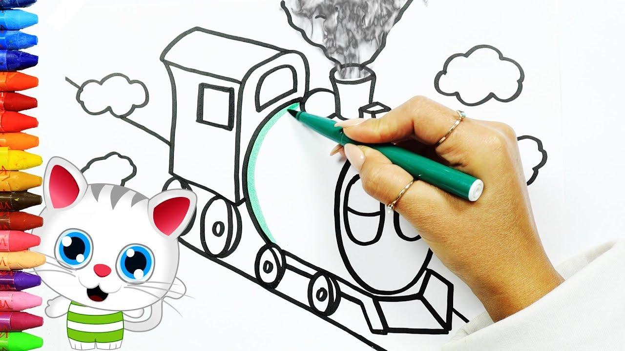 Eiscreme Malbuch | Farben Lernen | Wie Man Eiscreme Zeichnet mit Düsenjet Zum Ausmalen