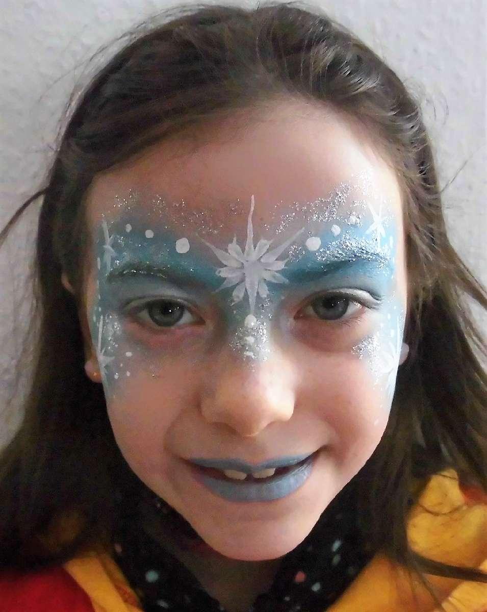 Eiskönigin Schminkvorlage Für Fasching Oder Kindergeburtstag ganzes Schminkvorlagen Kinderschminken Zum Ausdrucken