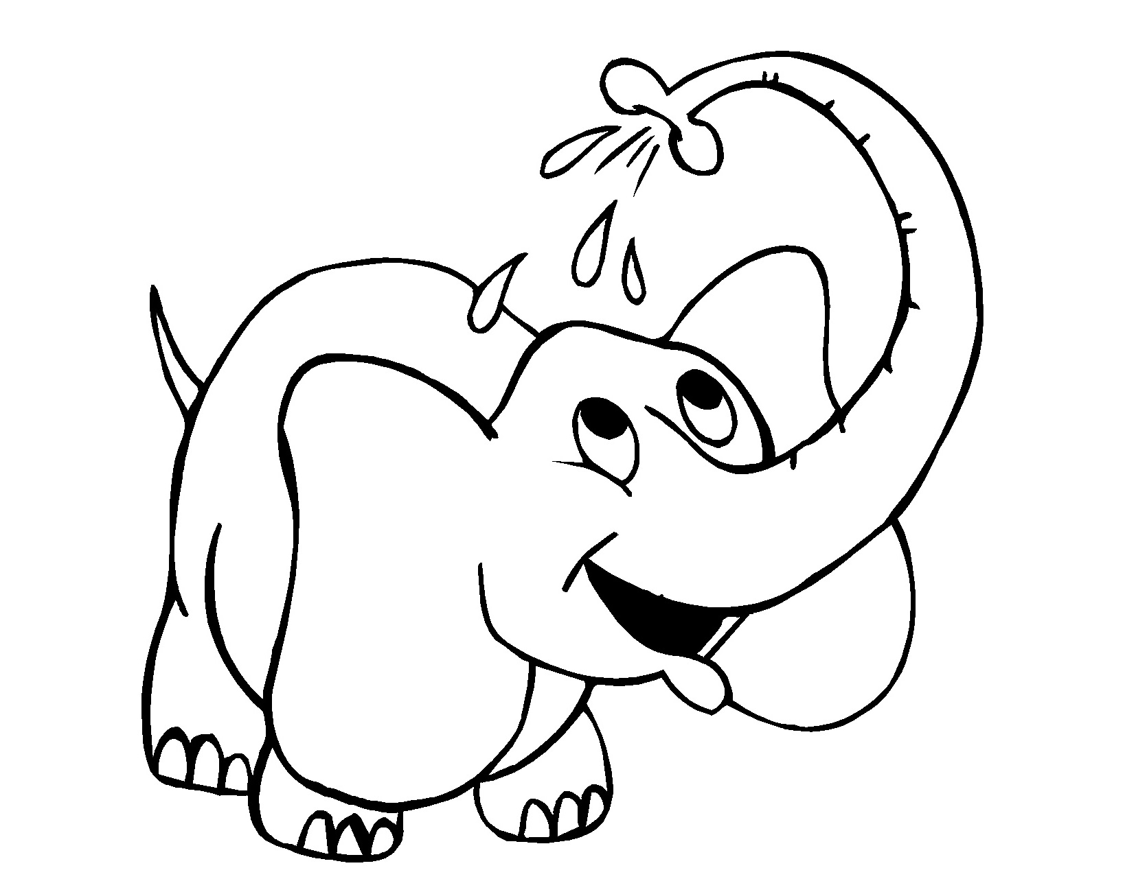 Elefant Ausmalbilder Kostenlos - Kids-Ausmalbildertv bestimmt für Malvorlage Elefant