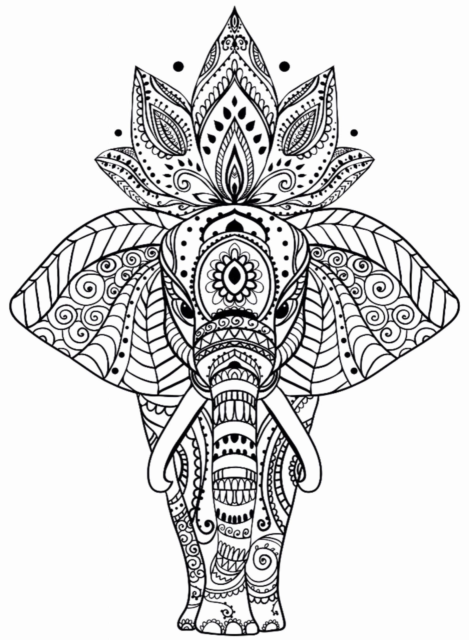 Elefant Mandala Malvorlagen Awesome Animal Mandala ganzes Tier Mandalas