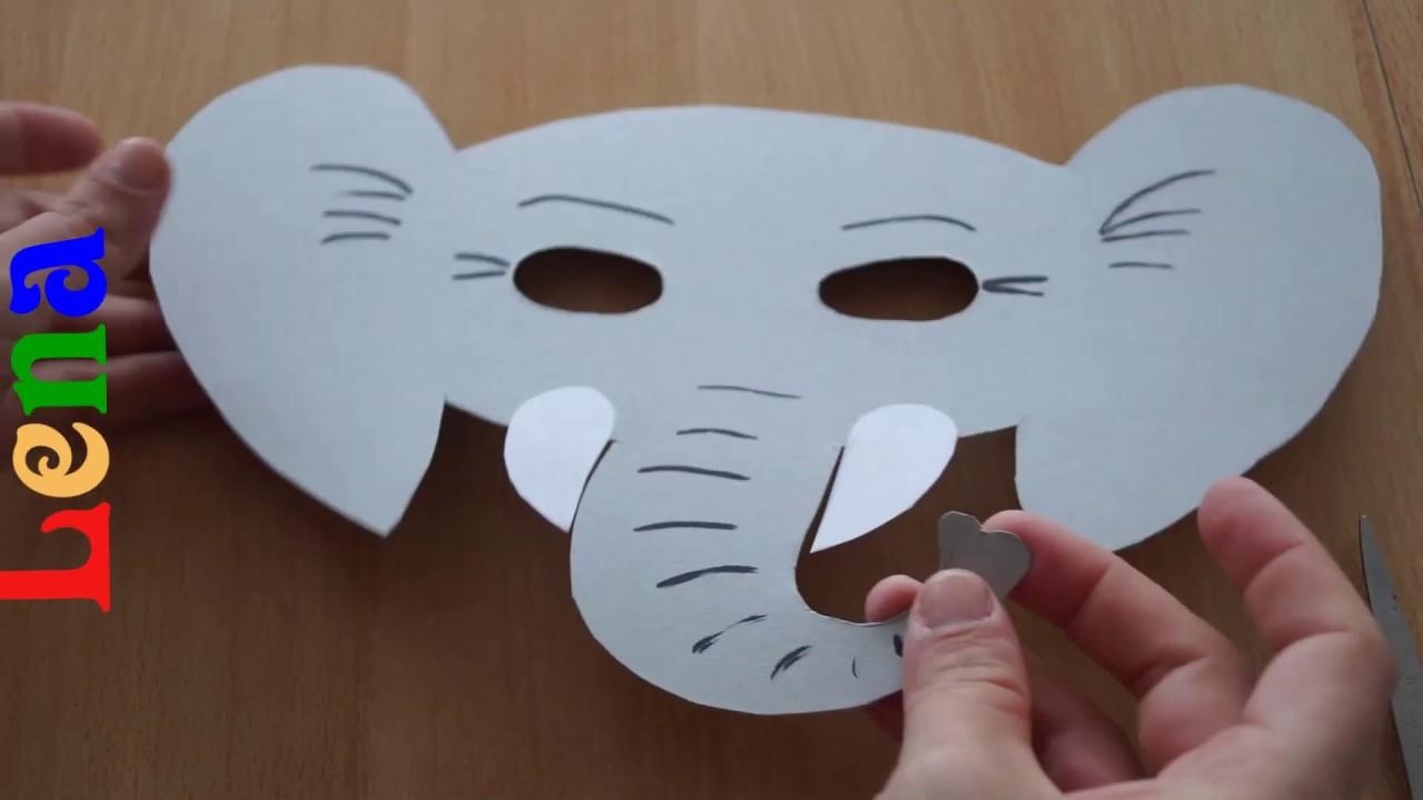 Elefanten Maske Basteln Mit Lena in Katzenmaske Basteln