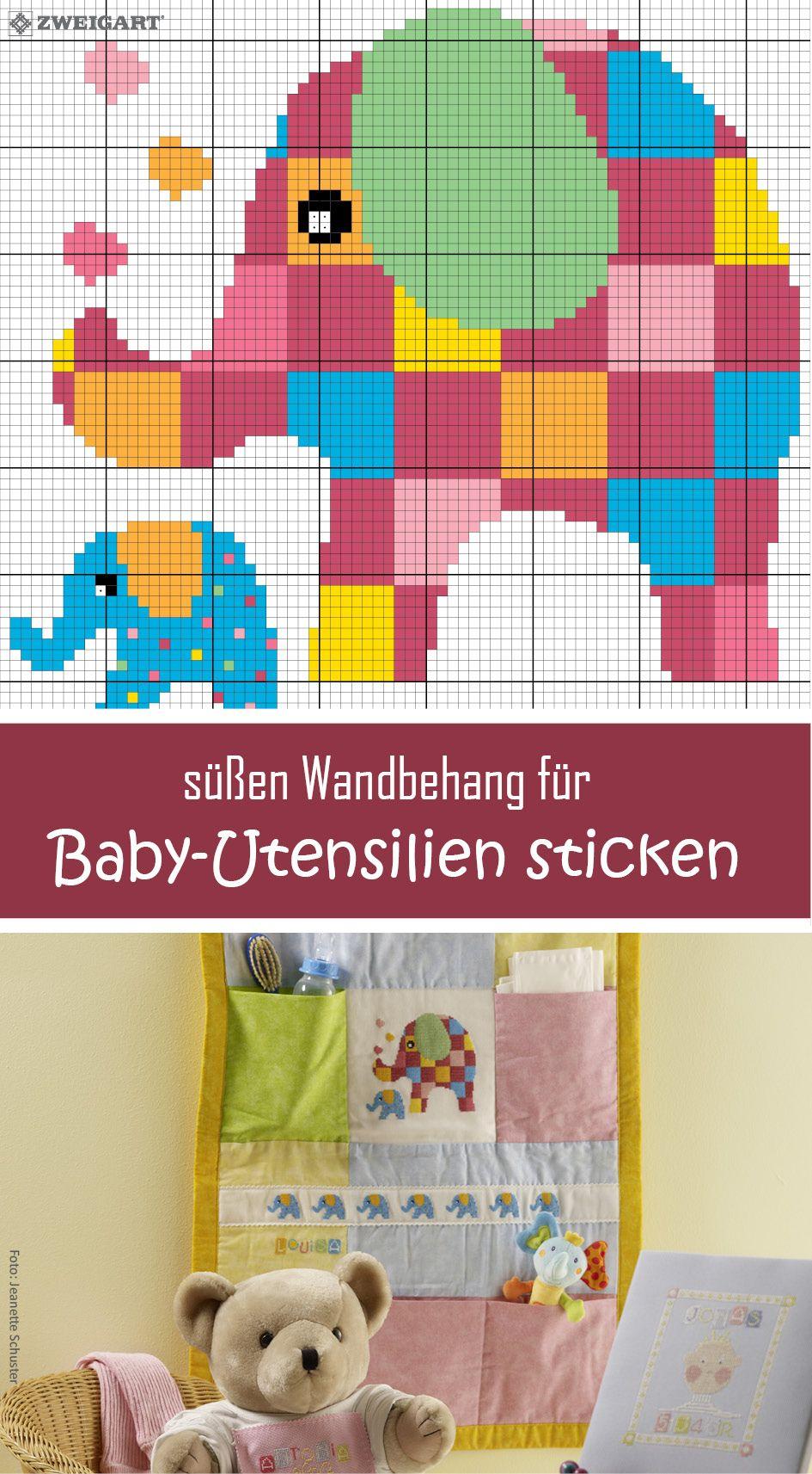 Elefanten-Motiv Für Babies Sticken - Entdecke Zahlreiche in Stickbilder Vorlagen Kostenlos