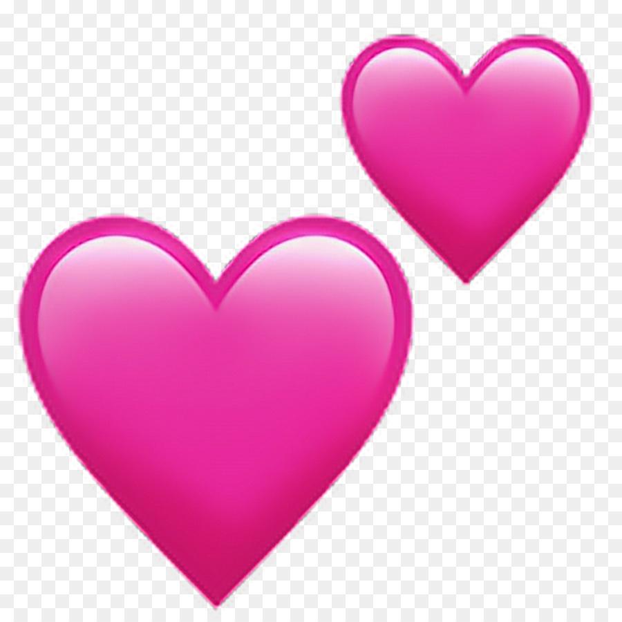 Emoji-Herz-Symbol Der Liebe - Rosa Herzen Png Herunterladen mit Herz Bilder Kostenlos Herunterladen