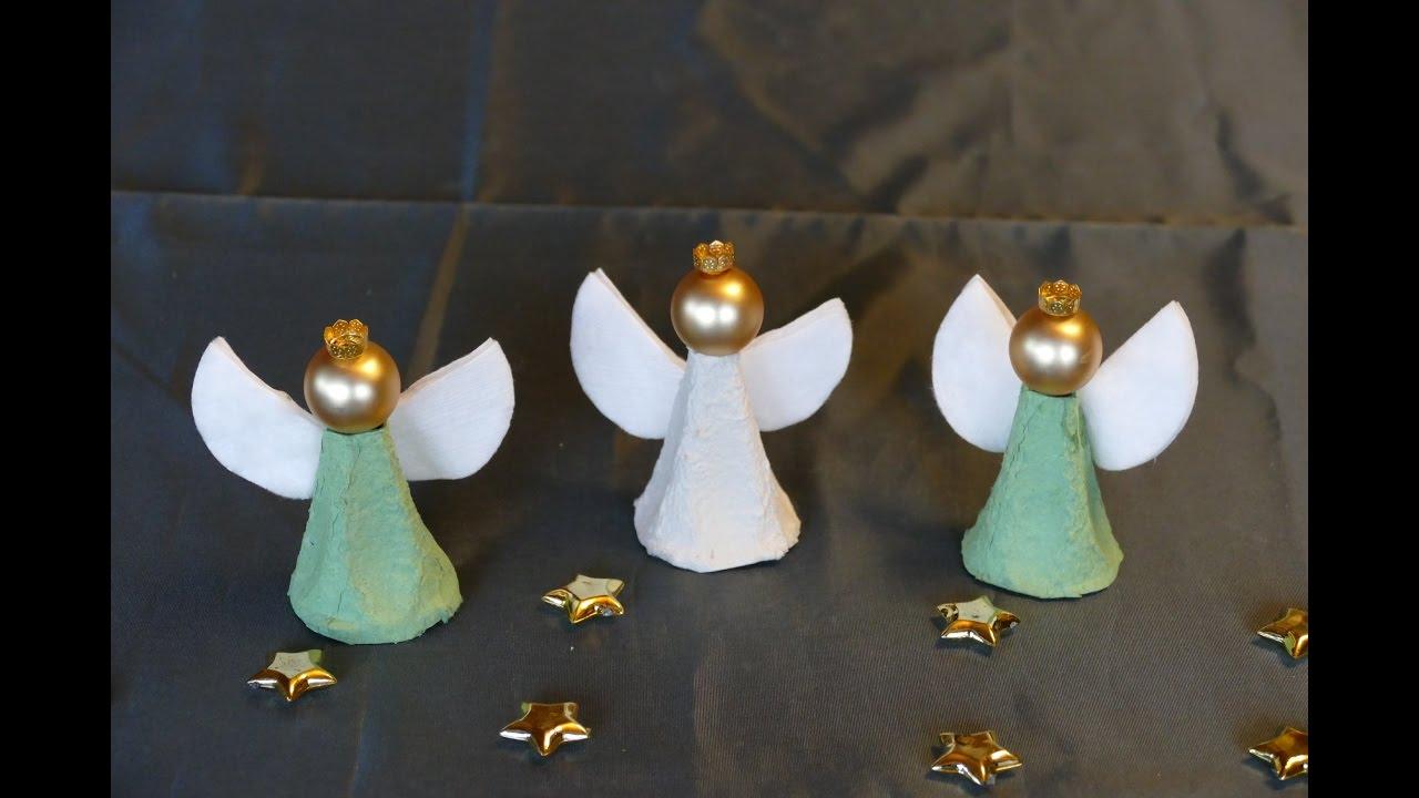 Engel / Angel Basteln Aus Eierschachteln – Super Einfach! Basteln Mit  Kindern innen Engel Basteln Vorlagen