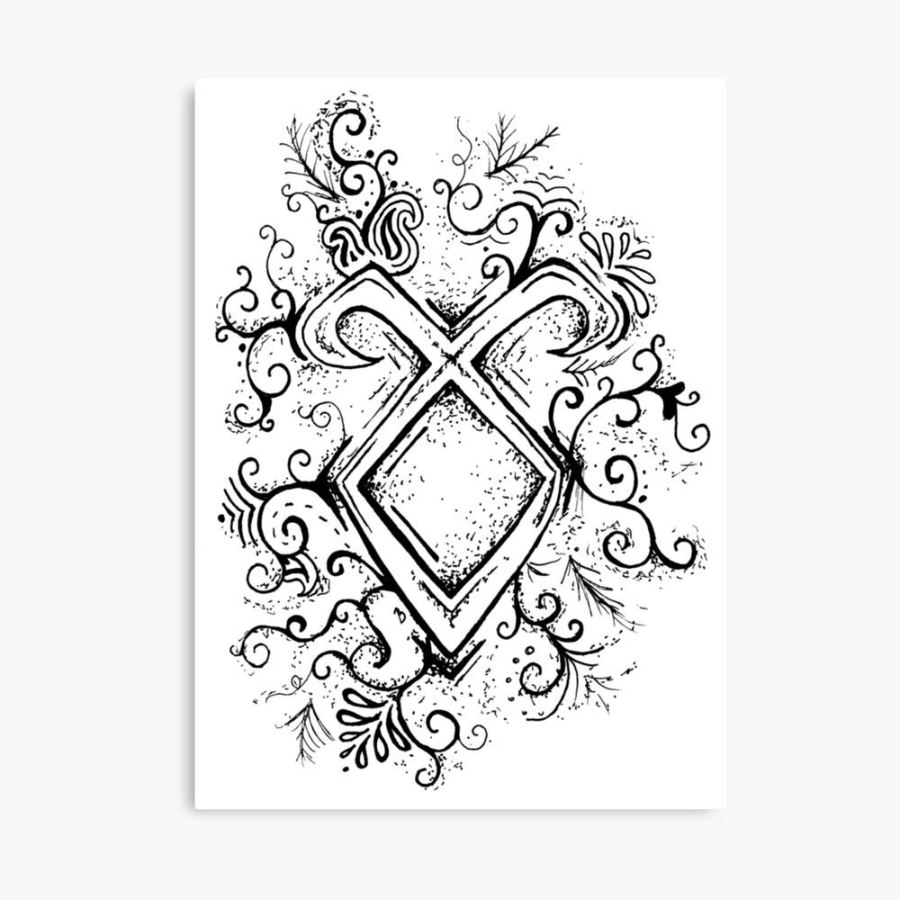 "Engel Rune Mandala"" Fotodruck Von Cummingsinkart   Redbubble in Engel Mandala"