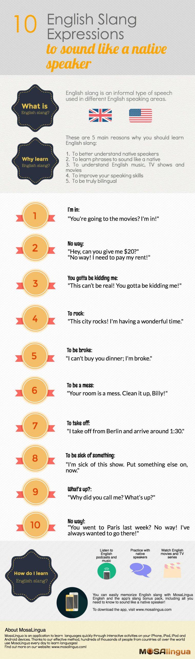 Englische Wörter Und Slang Ausdrücke, You Should Know verwandt mit Wörter Die Mit I Anfangen