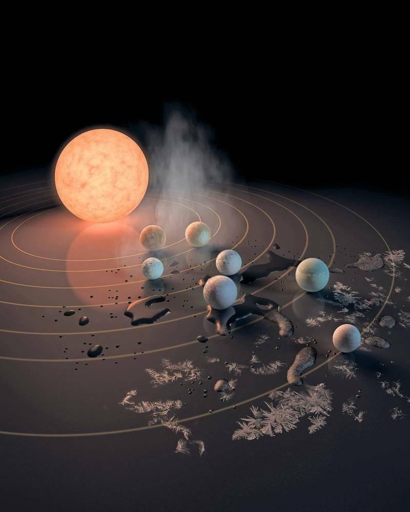 """Erdähnliche Planeten Bei Trappist-1 Entdeckt: """"Dort Könnte ganzes Unterschied Zwischen Stern Und Planet"""