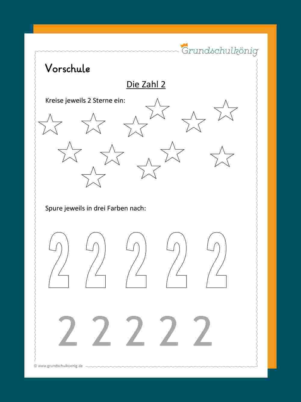 Erste Zahlen über Vorschulübungen Arbeitsblätter