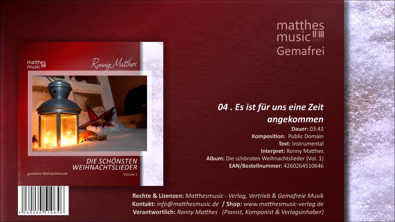Es Ist Für Uns Eine Zeit Angekommen - Gemafrei mit Weihnachtslieder Mp3 Kostenlos Download