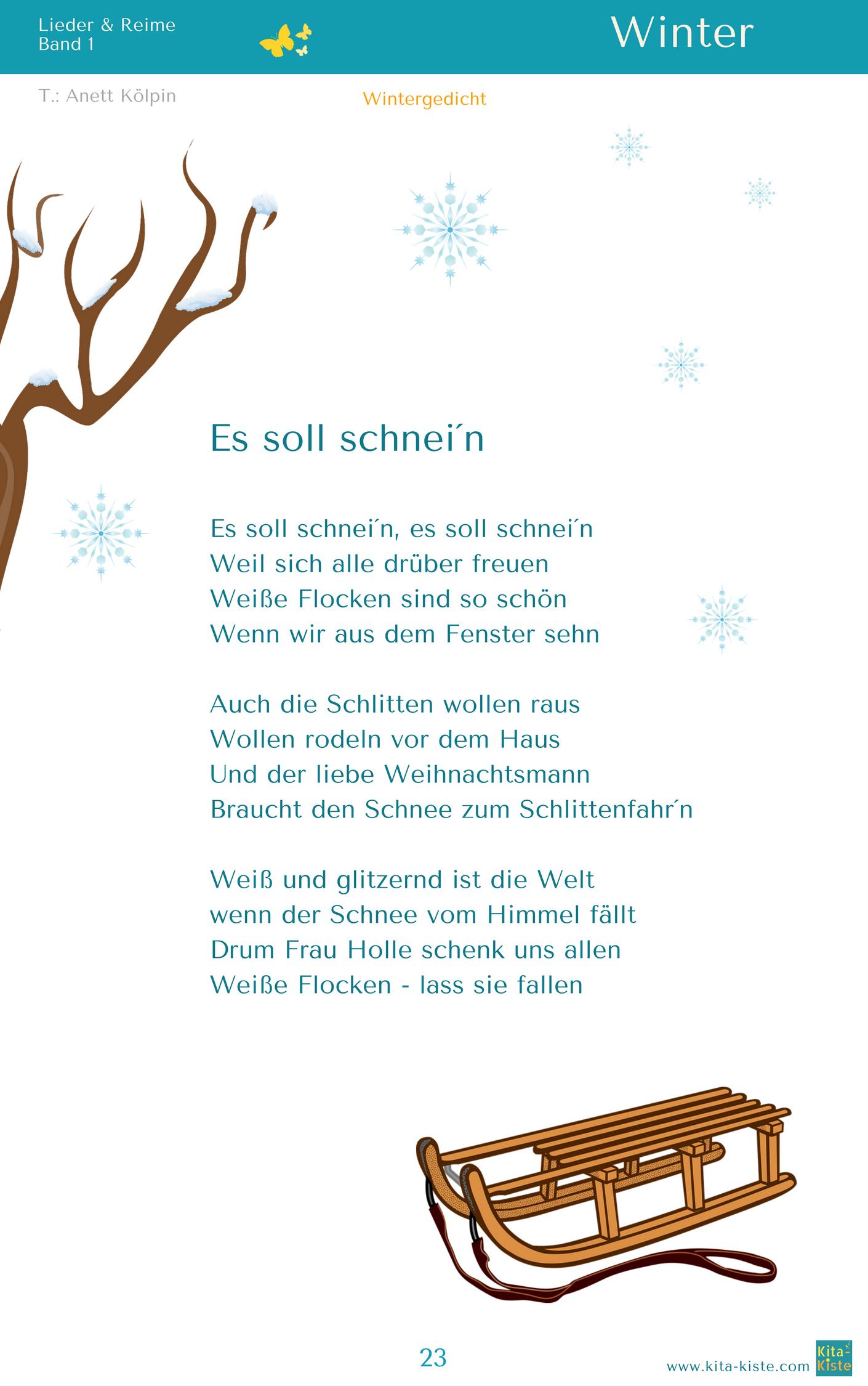 gedicht winter grundschule  kinderbilderdownload