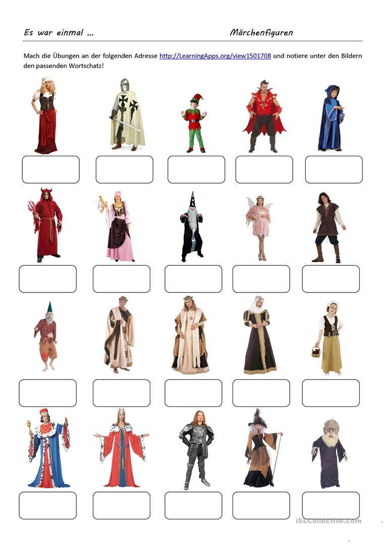 Es War Einmal  Märchenfiguren | Faschingsbasteln bei Märchenfigur Bei Grimm Kreuzworträtsel