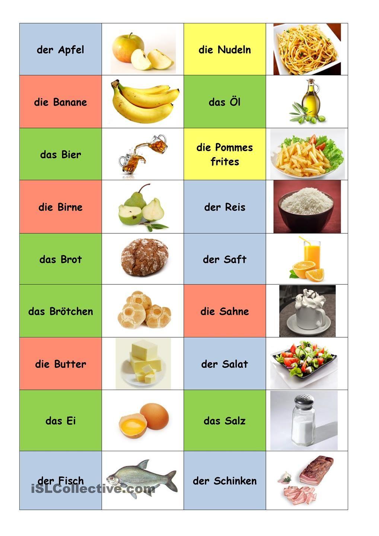 Essen Und Trinken | Deutsch Lernen, Deutsch Für Anfänger, Essen für Essen Und Trinken Bilder
