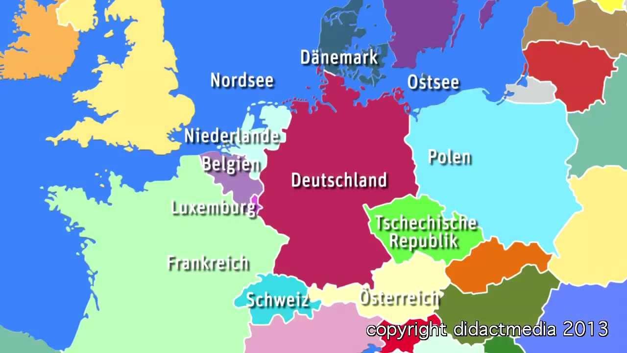 Europa Im Überblick - Der Westen - Deutschland - Viele Nachbarn, Große  Städte bestimmt für Welche Länder Grenzen An Deutschland