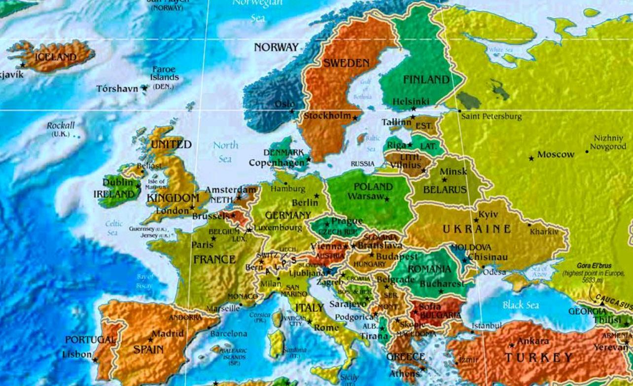 Europakarte   Europakarte Leer   Die Länder Europas Auf Der bestimmt für Europakarte Mit Hauptstädten Zum Ausdrucken