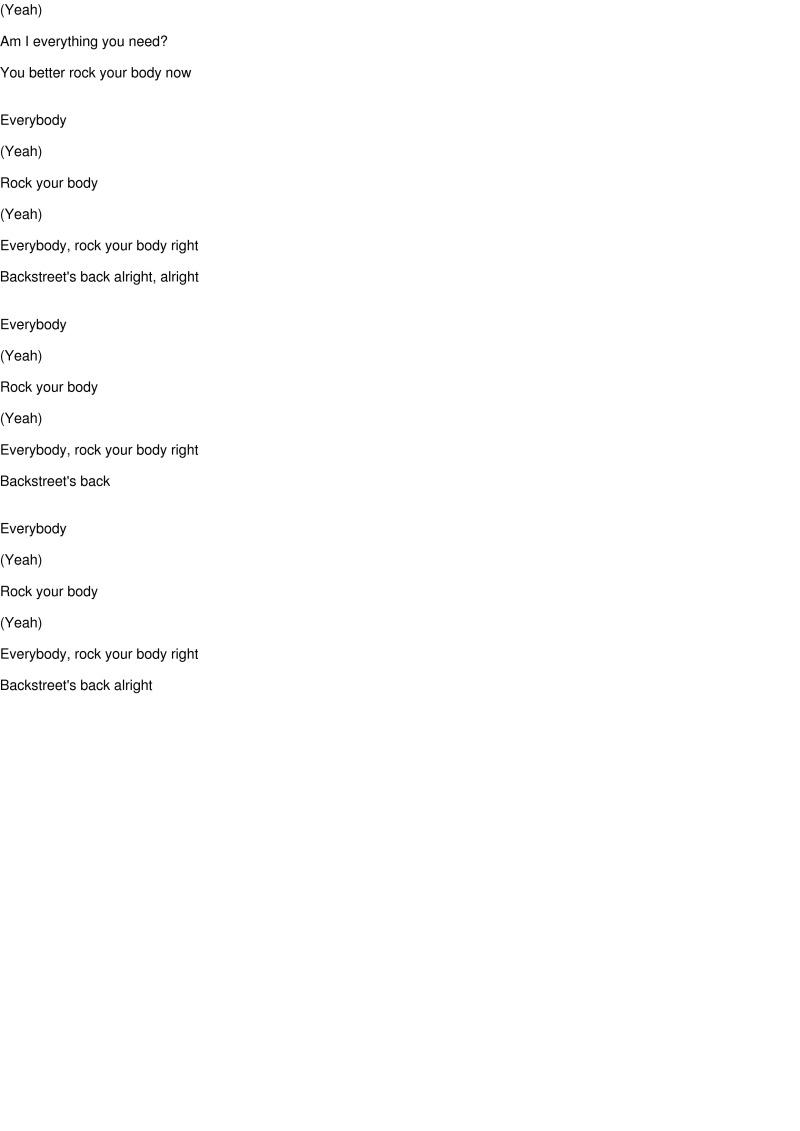 "Everybody (Backstreet's Back) [7"" Version] Lyrics über Everybody Yeah Rock Your Body Lyrics"