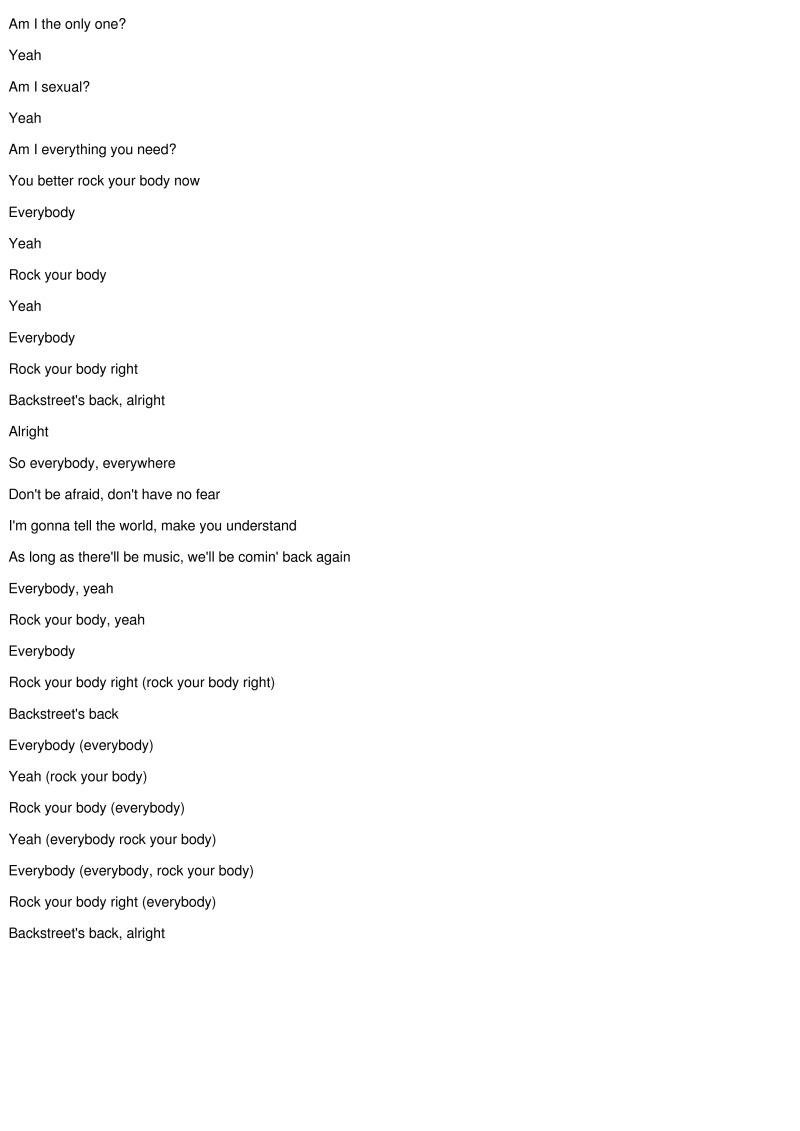 Everybody (Backstreet's Back) [Version] Lyrics - Backstreet Boys über Everybody Yeah Rock Your Body Lyrics