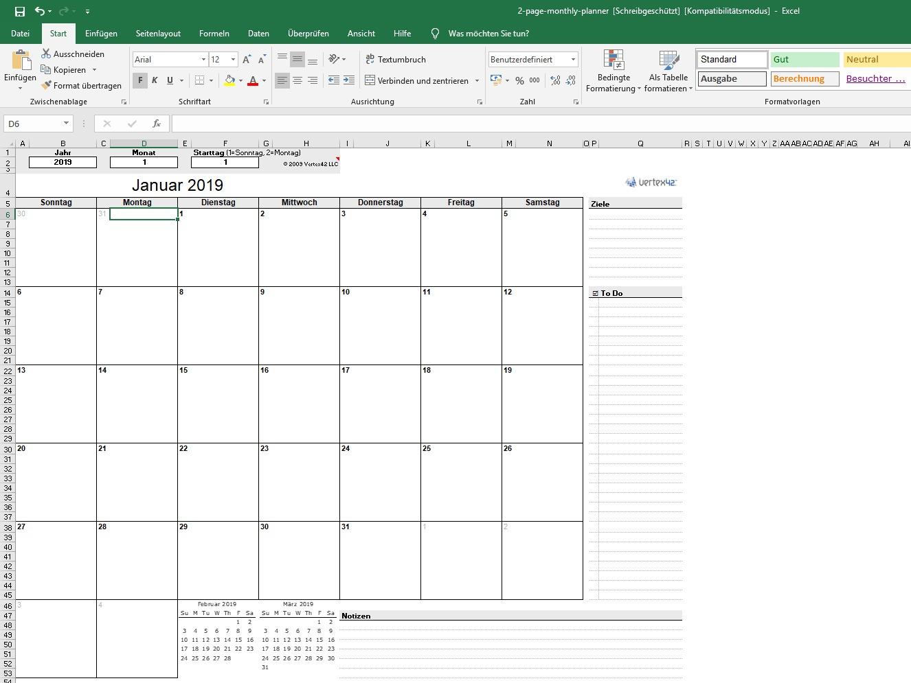 Ewiger Kalender Für Excel Download – Kostenlos – Chip mit Ewiger Kalender Kostenlos