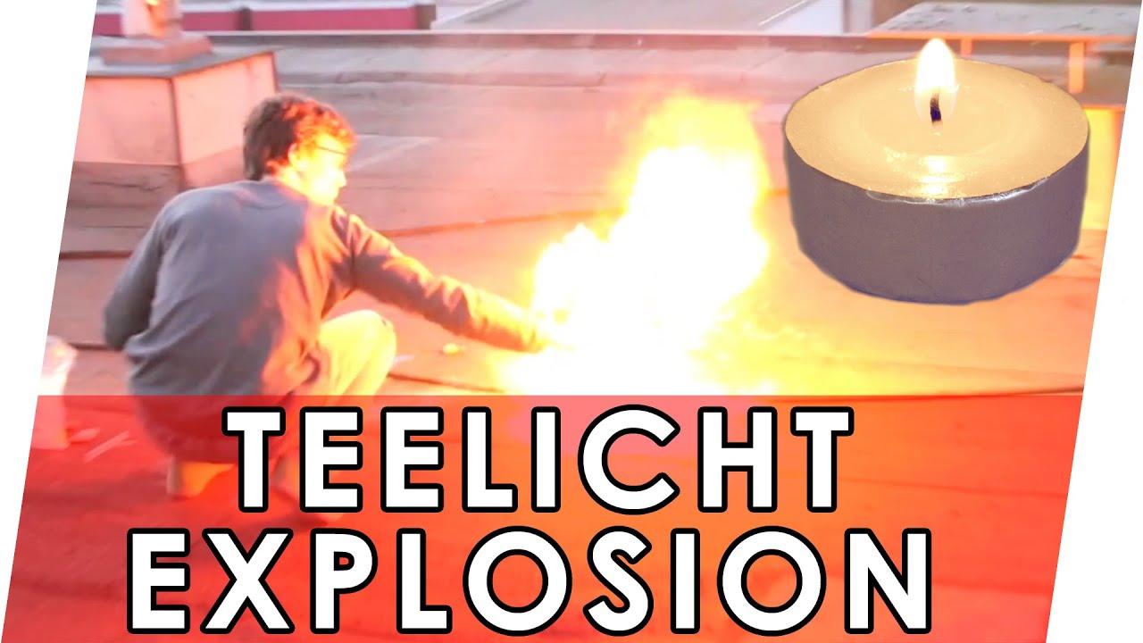Experiment Mit Feuer: Teelicht-Explosion | Wachs-Explosion |  Parafin-Explosion verwandt mit Feuer Experimente Für Kindergartenkinder
