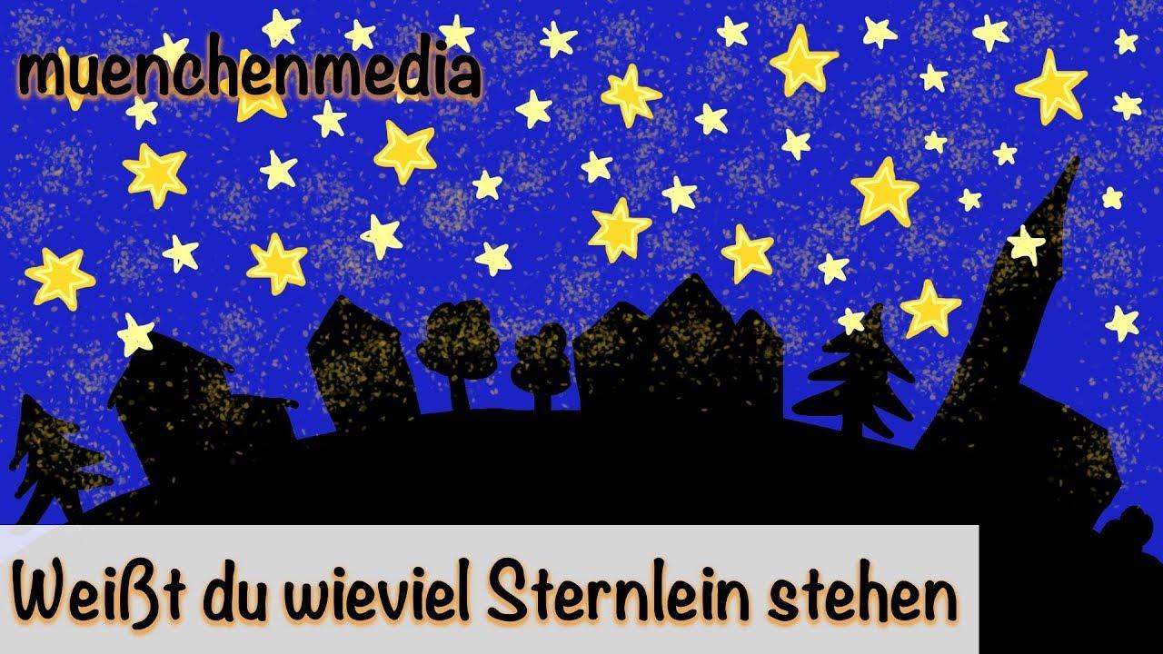 🌛 Weißt Du Wieviel Sternlein Stehen - Schlaflied | Lullaby | Kinderlieder  Deutsch - Muenchenmedia über Liedtext Weißt Du Wieviel Sternlein Stehen