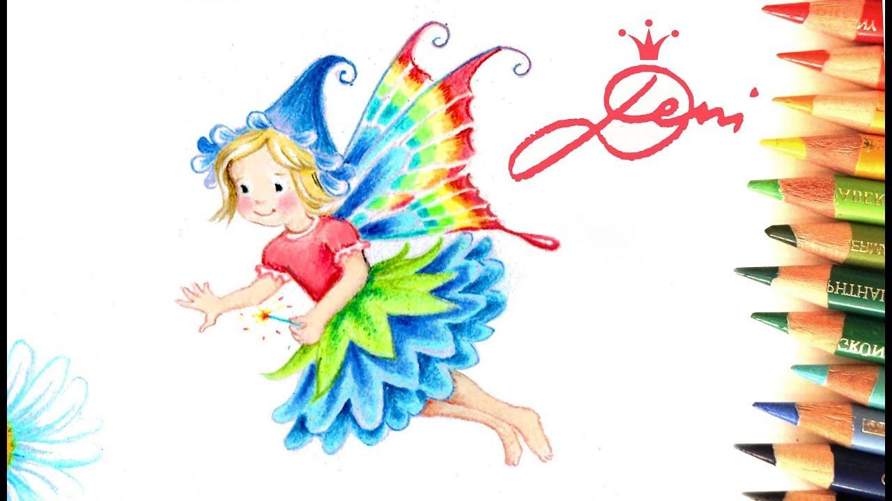 🌸fee Zeichnen Lernen 🧚♀️ Blumenfee Malen 🧚♂️ How To Draw A Fairy 🌺  Kак Се Рисува Фея in Feen Zeichnen
