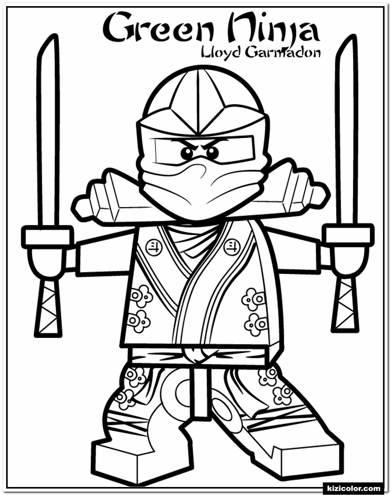 🎨 Gruner Ninja Ninjago - Ausmalbilder Kostenlos Zum Ausdrucken bei Ninjago Malen