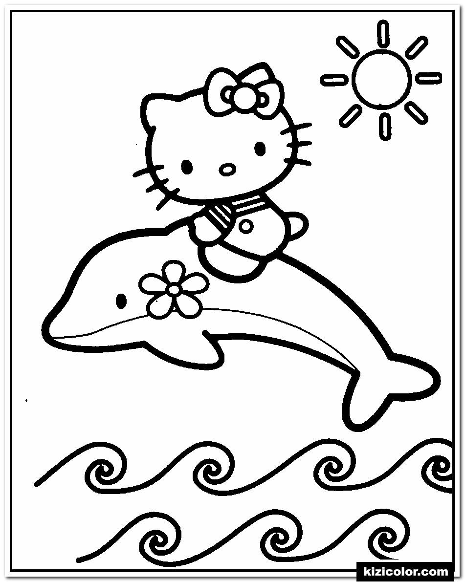 🎨 Hallo Katzchen Mit Delphin - Ausmalbilder Kostenlos Zum bei Delfin Ausmalbilder Zum Ausdrucken