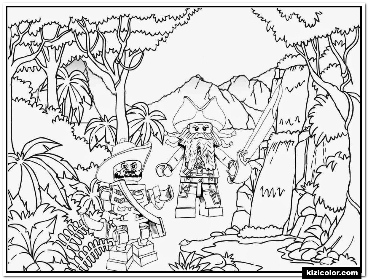 🎨 Lego Piraten Dschungel - Ausmalbilder Kostenlos Zum für Ausmalbilder Kostenlos Piraten