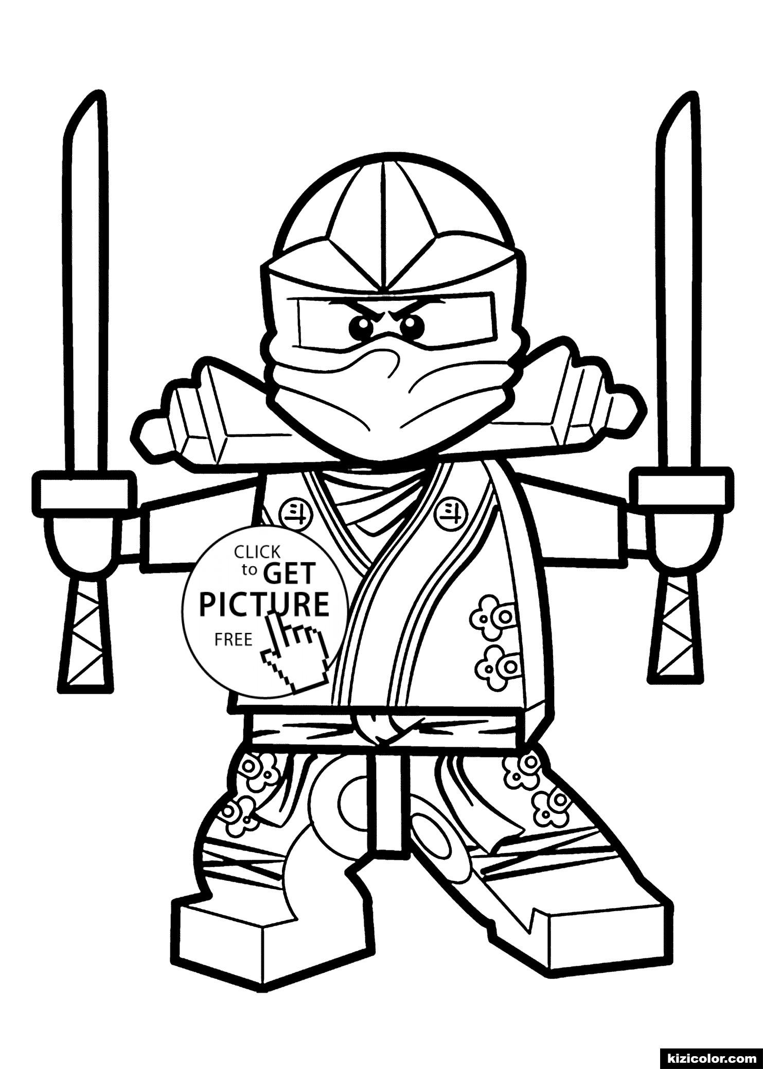 🎨 Ninjago Gruner Ninja - Ausmalbilder Kostenlos Zum Ausdrucken für Ninjago Ausmalbilder Kostenlos Drucken