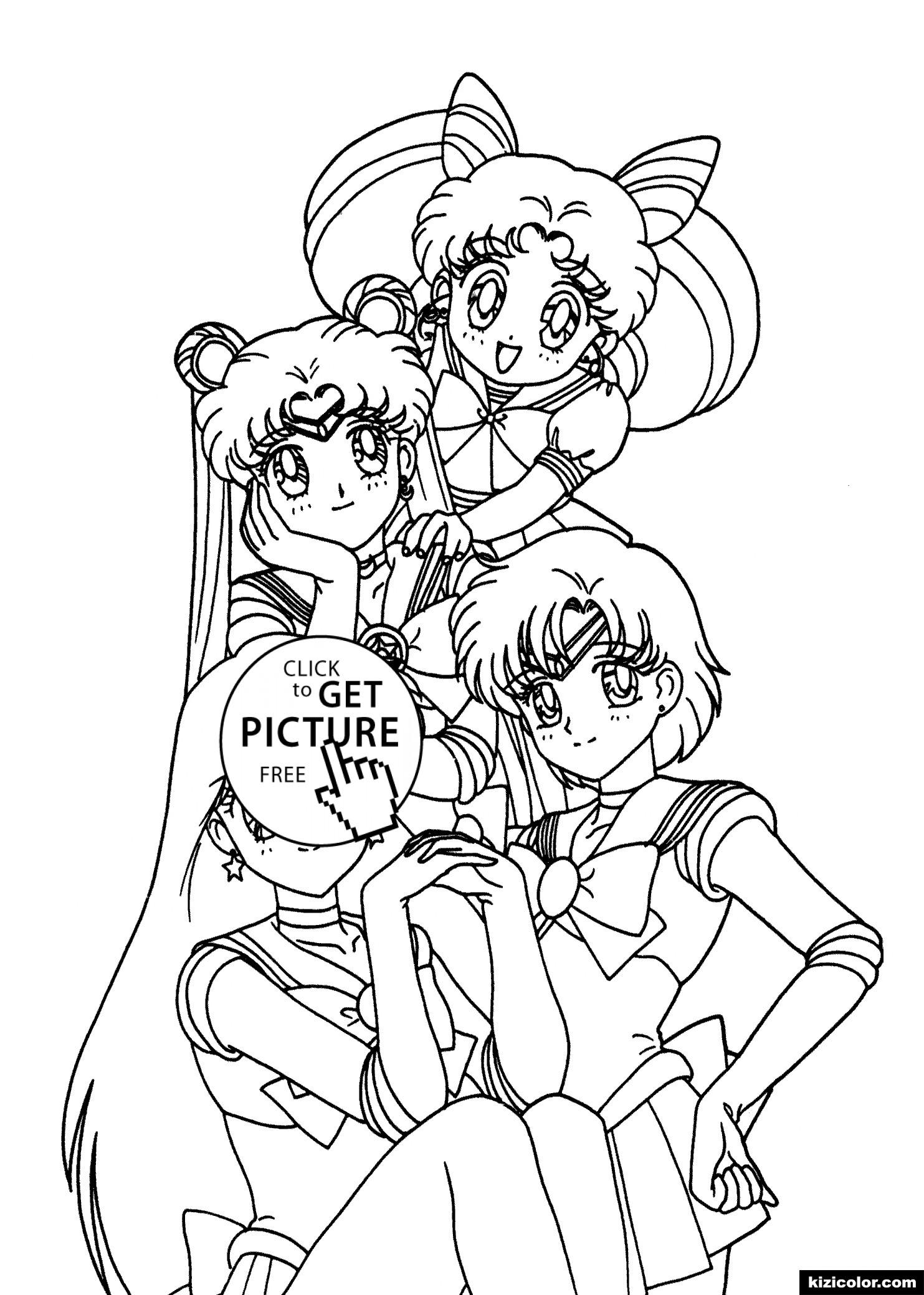 🎨 Sailor Moon Freunde Manga - Ausmalbilder Kostenlos Zum in Manga Zeichenvorlagen