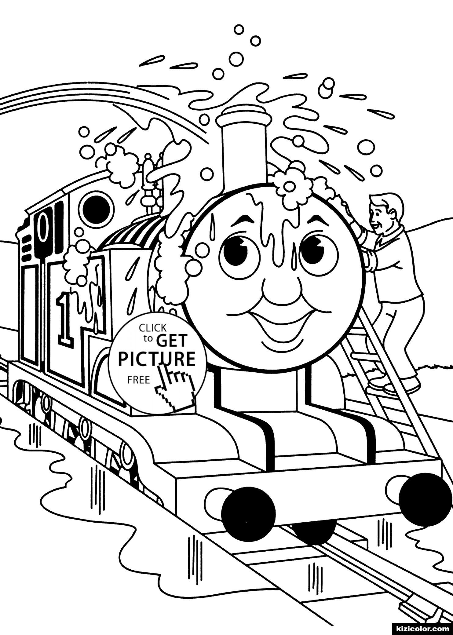 🎨 Thomas Und Freunde Gewaschen1 - Ausmalbilder Kostenlos in Malvorlage Thomas Und Seine Freunde