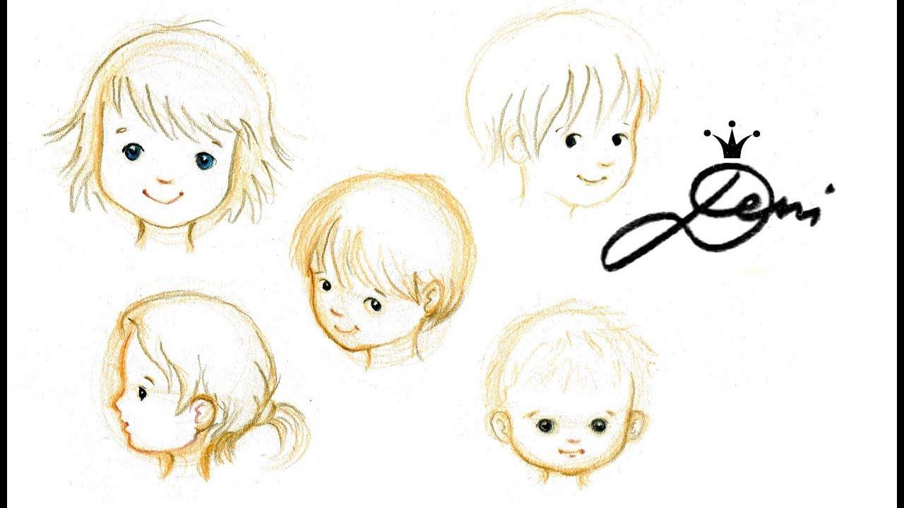 👦gesichter Zeichnen Lernen👶kinder Malen👧kindergesicht Illustration  👱🏻♀️ How To Draw Children, in Kinder Lernen Zeichnen Und Malen