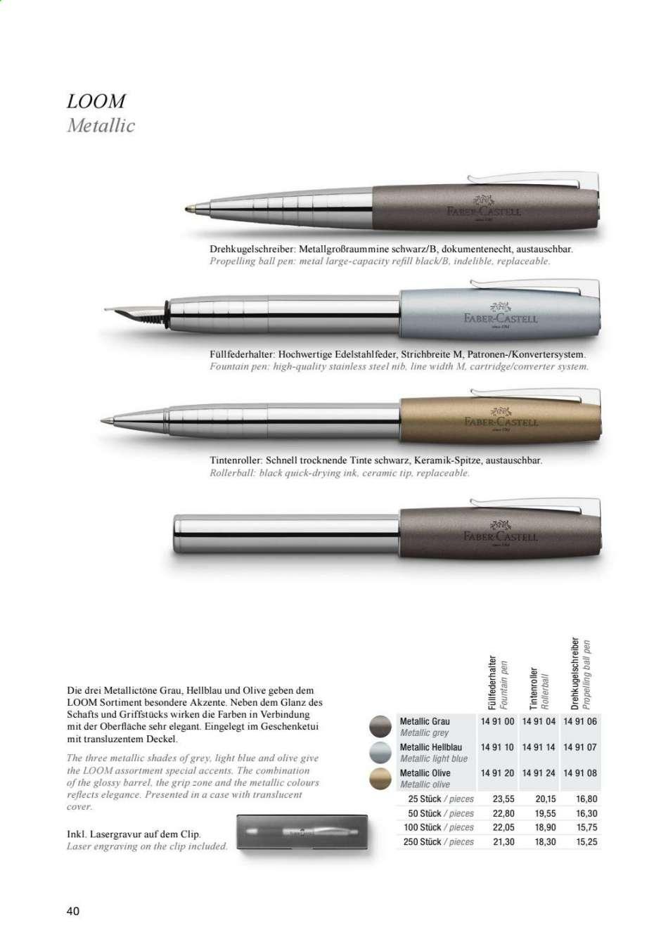 Faber-Castell Aktuelle Prospekte | Rabatt-Kompass.de in Faber Castell Tinte Dokumentenecht
