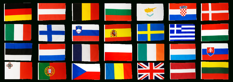 Fahnen Set Europäische Union Eu 28 Staaten - 60 X 90 Cm bestimmt für Flaggen Der Eu Länder