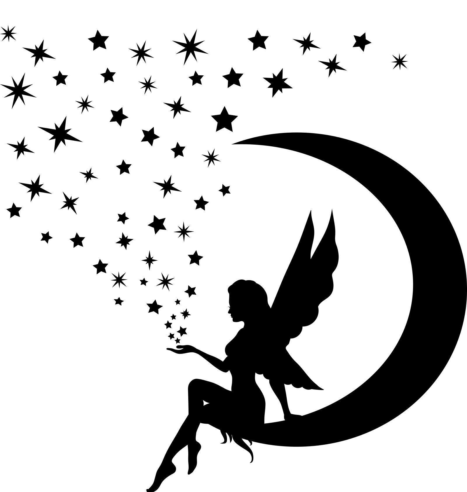 Fairy Hair Silhouette - Google Search | Feen Silhouette für Elfen Tattoos Vorlagen Kostenlos