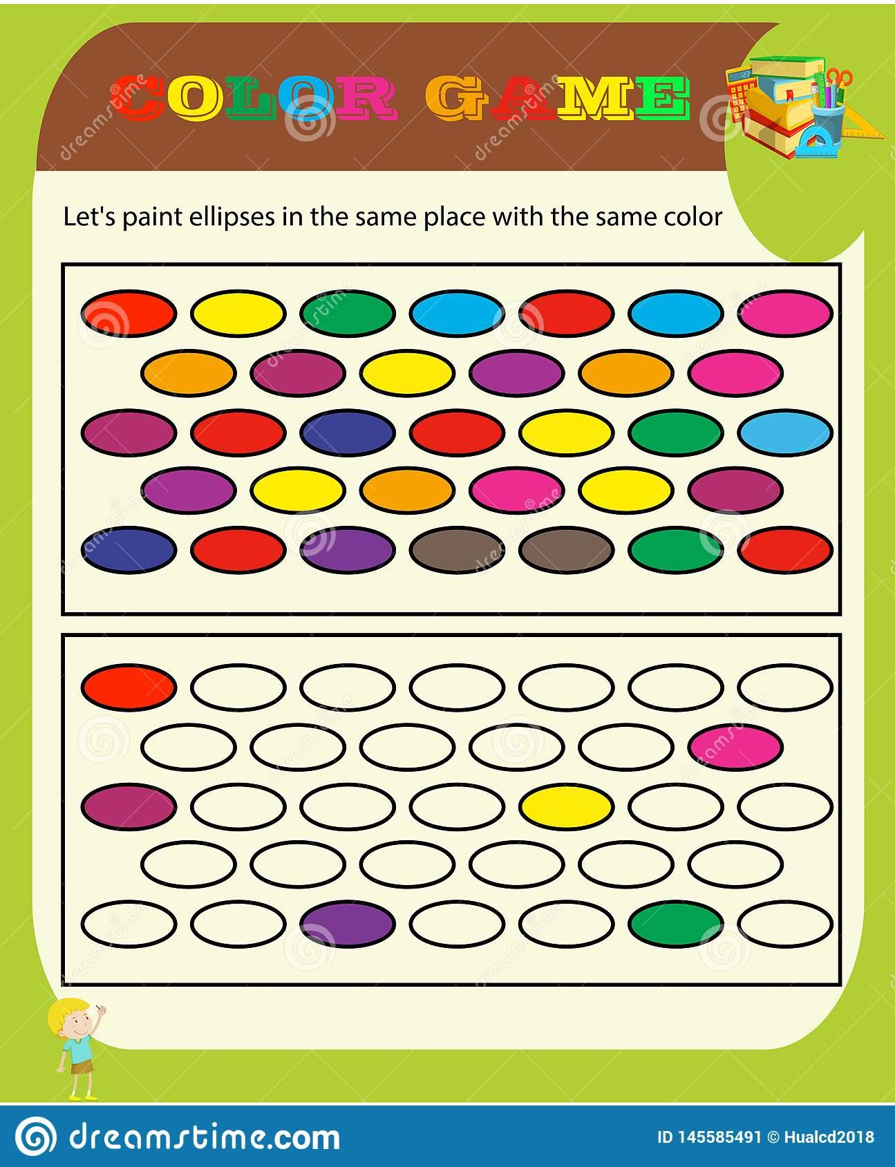 Farbspiel Sudoku-Spiel Mit Bildern Für Kinder, Einfaches über Sudoku Für Kindergartenkinder