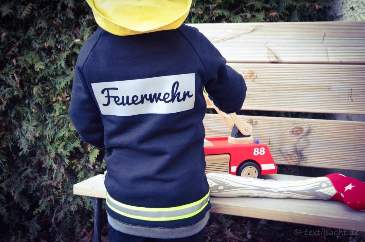 Faschingskostüm Feuerwehrmann Nähen | Textilsucht ganzes Kinder Feuerwehrkleidung