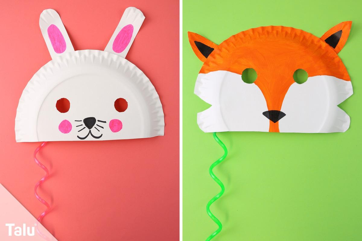 Faschingsmasken Basteln / Anleitung - Kindermasken Aus bei Faschingsmasken Selber Basteln