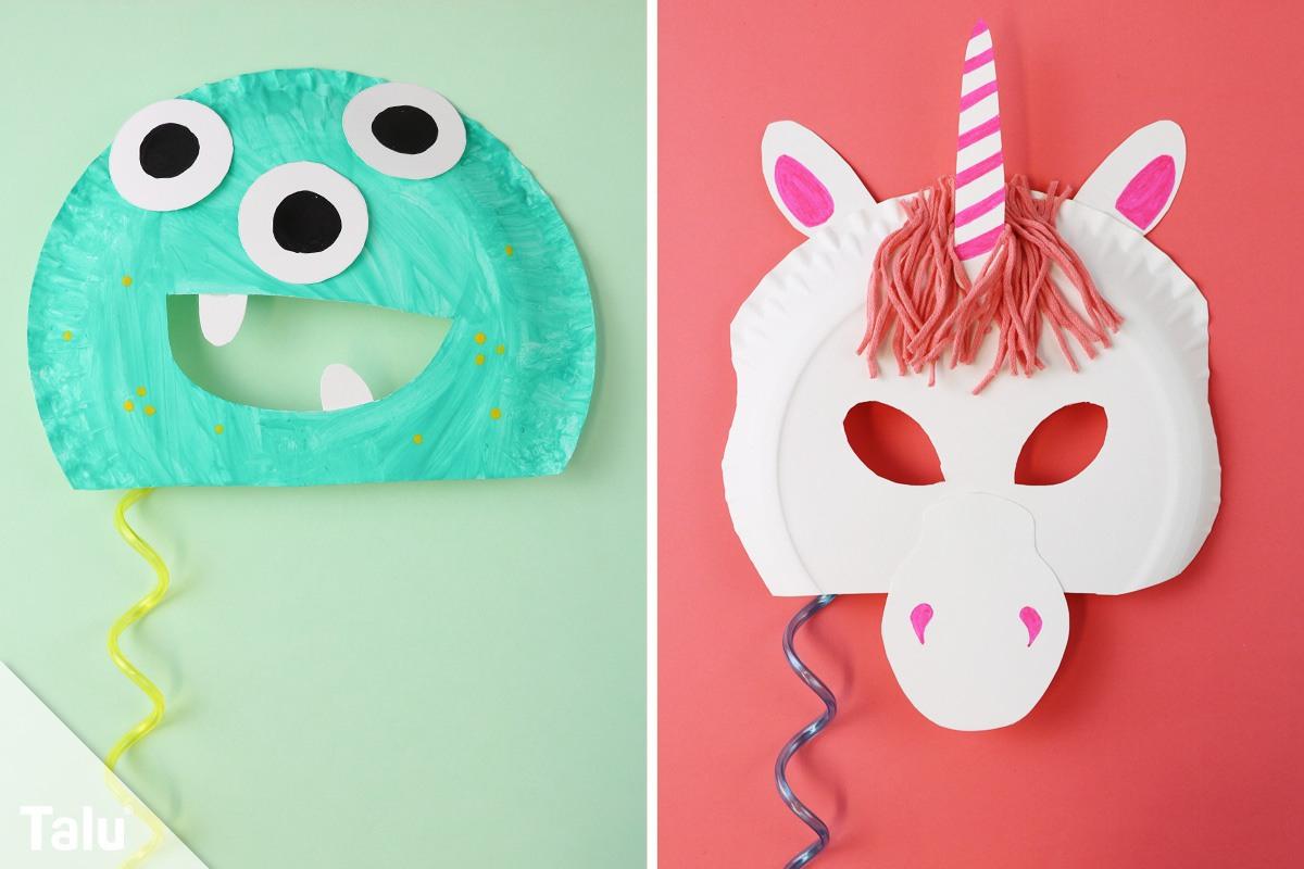 Faschingsmasken Basteln / Anleitung - Kindermasken Aus für Faschingsmasken Selber Basteln