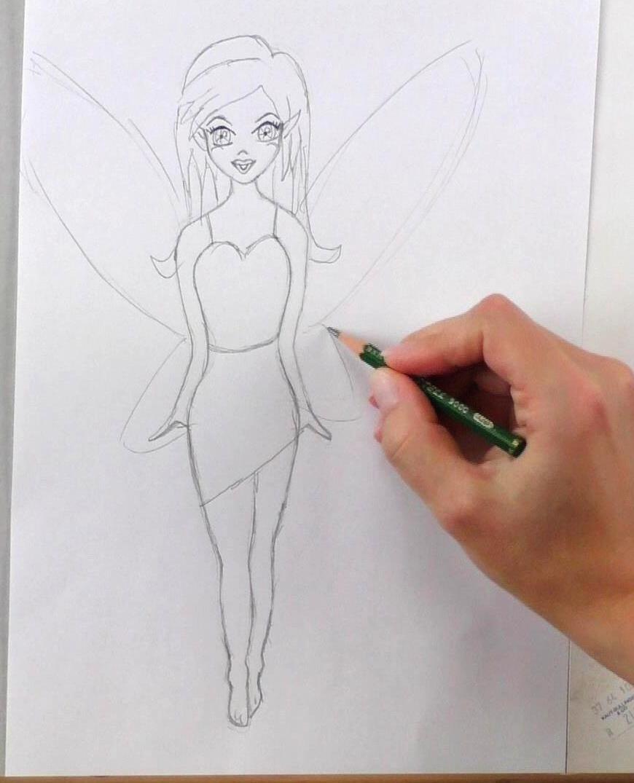 Fee Zeichnen Lernen Mit Bleistift - Schritt Für Schritt verwandt mit Ganz Einfach Zeichnen Lernen