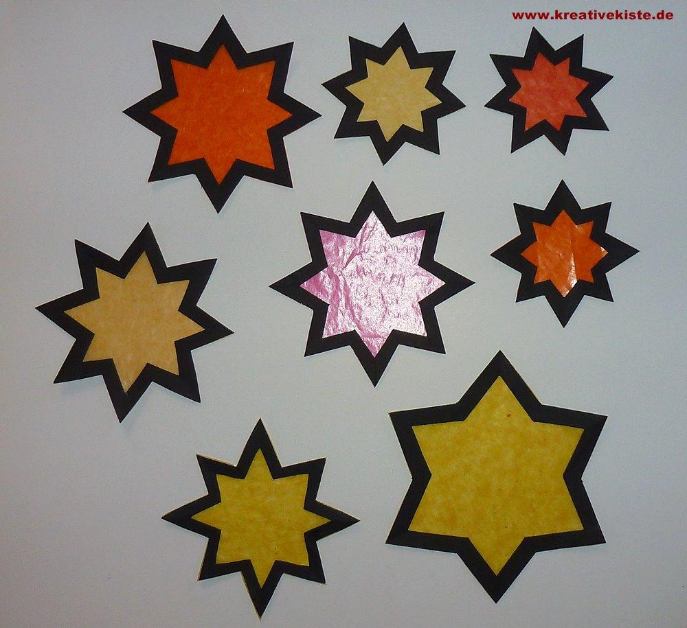 Fensterbild Adventskerzen über Stern Von Bethlehem Basteln