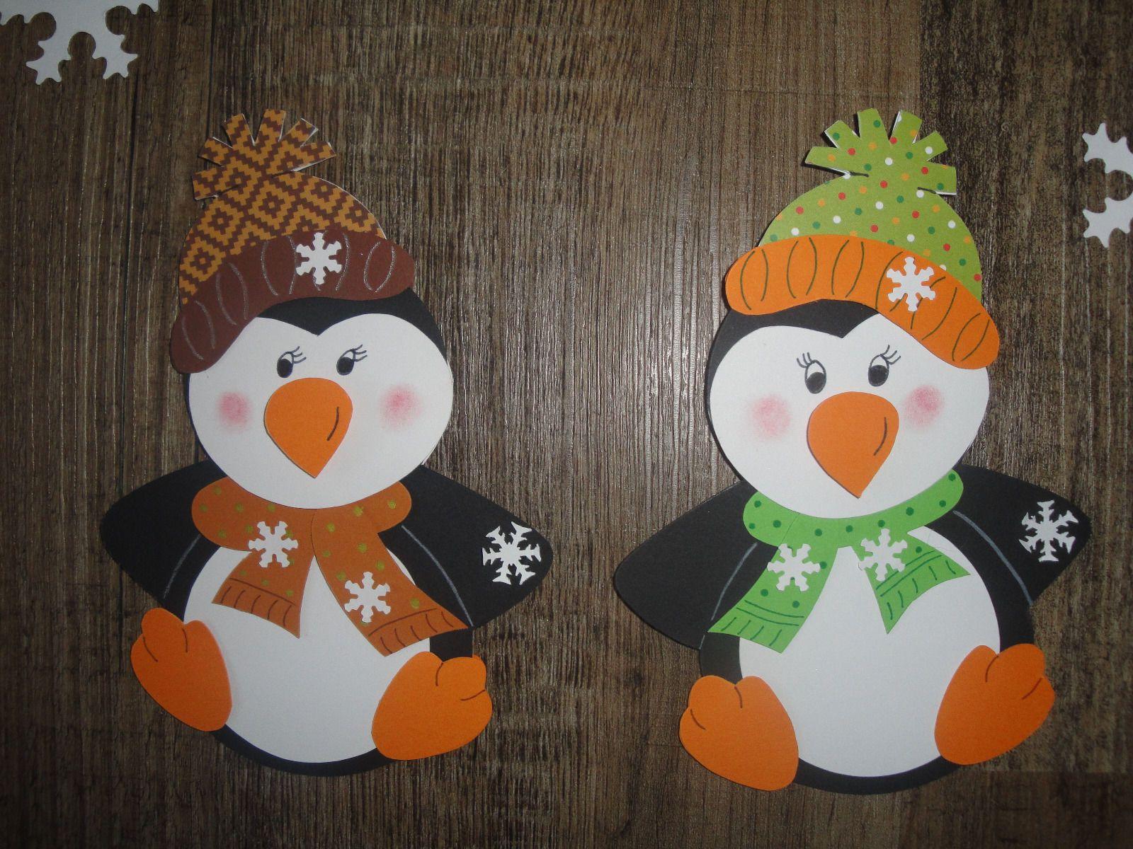 Fensterbild Tonkarton ,winter , Weihnachten , Süßer Pinguin bei Fensterbilder Weihnachten Bastelvorlagen