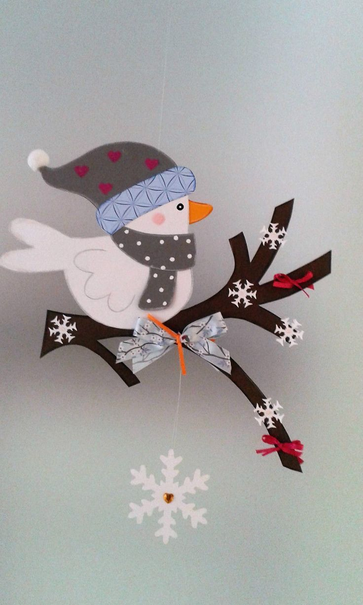 Fensterbild - Vogel Auf Dem Zweig Winter - Weihnachten ganzes Fensterbilder Weihnachten Bastelvorlagen