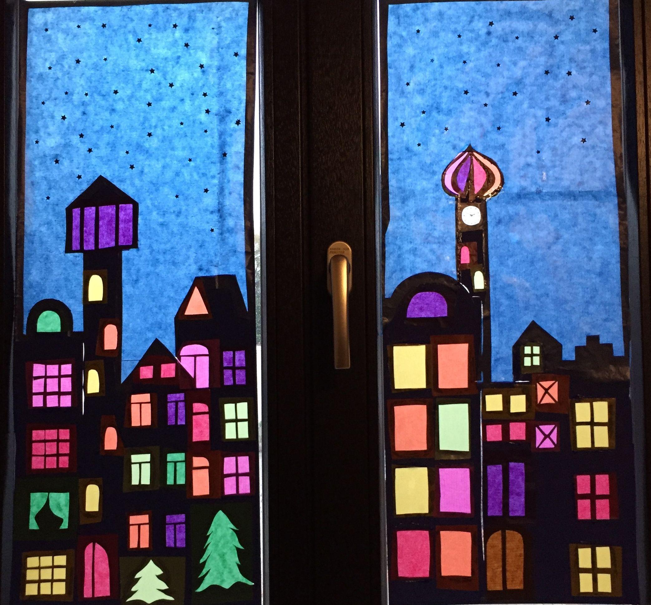 Fensterbild Weihnachten #fensterdekoweihnachtenbasteln (Mit für Fensterbilder Weihnachten Vorlagen Transparentpapier