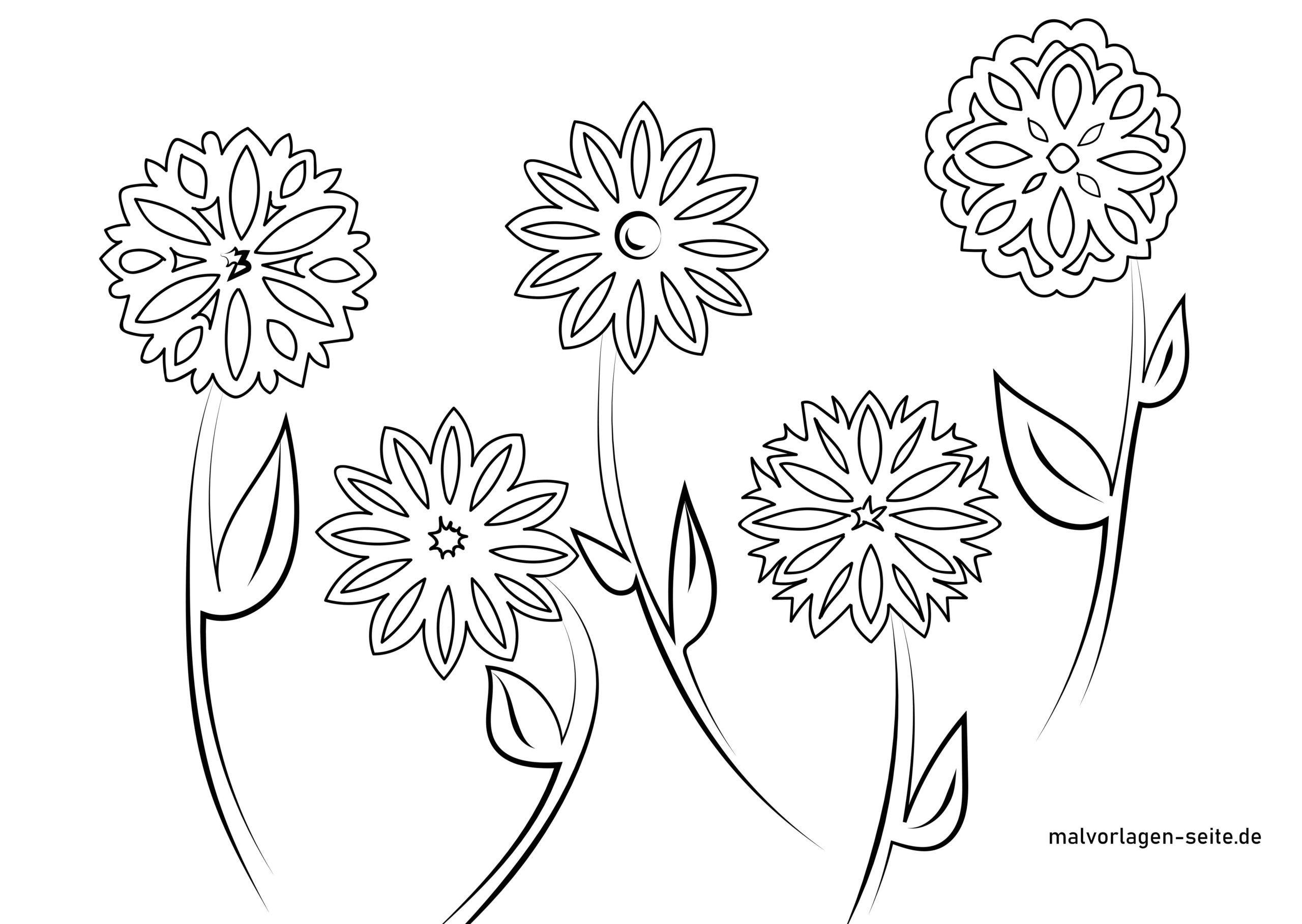 Fensterbilder Vorlage Blumen - Ausmalbilder Kostenlos ganzes Blumen Malvorlagen Kostenlos